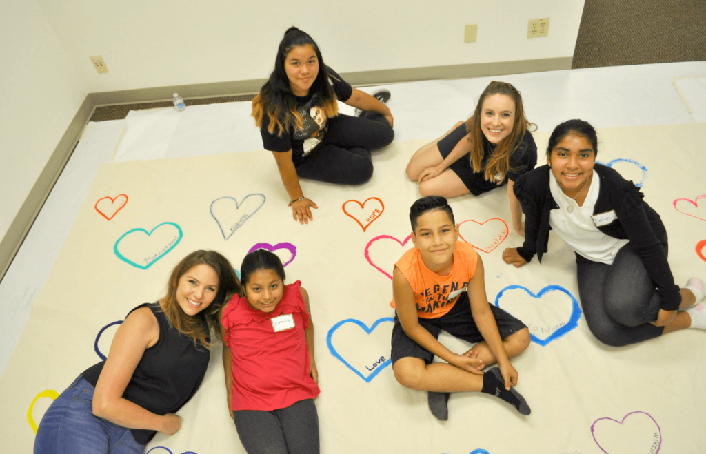 Mentees and Mentors at Heart to Home Art Healing program