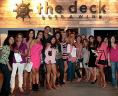 group of women at the deck