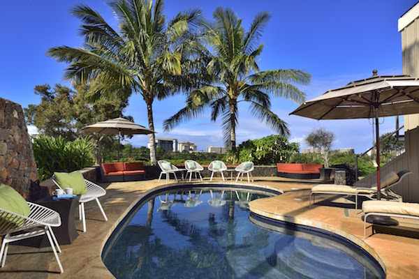 maui beach home pool