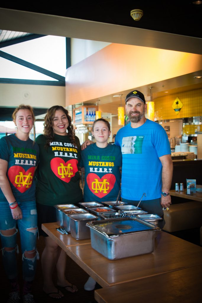 Walter and Mira Costa volunteers at California Pizza Kitchen supporting Walk With Sally