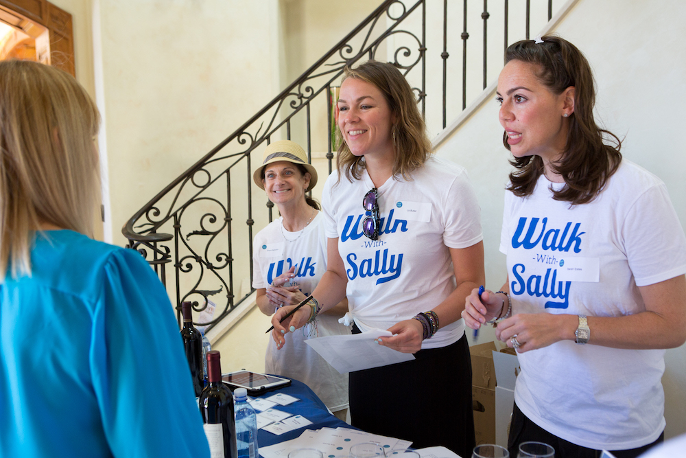 Walk With Sally volunteer ambassadors