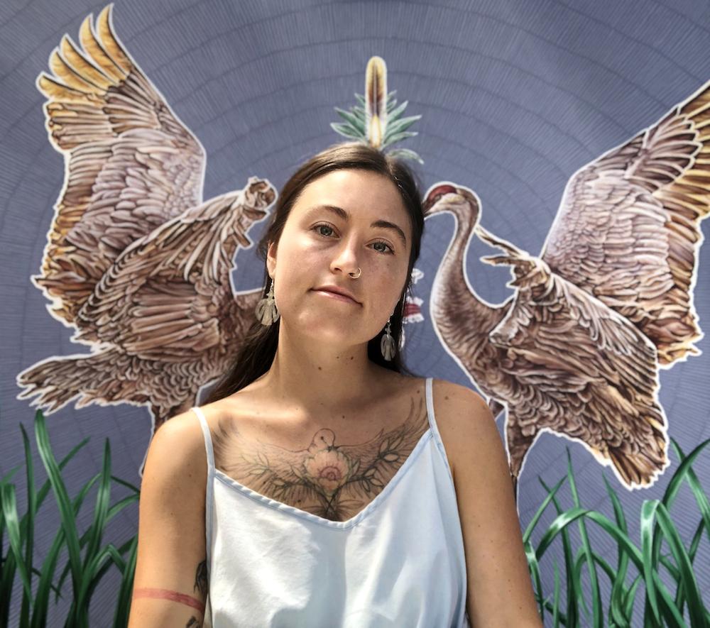 Artist Maggie Lochtenberg portrait