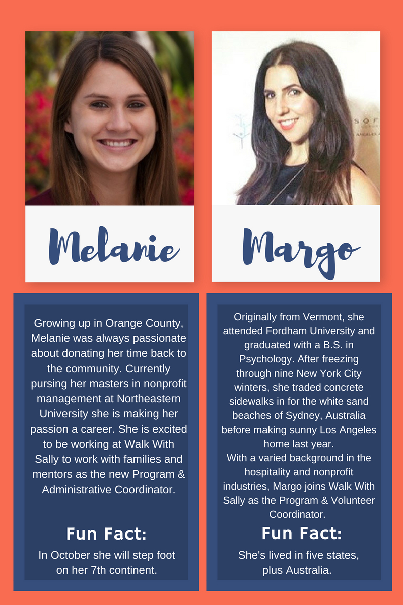 Introducing Melanie and Margo Walk WIth Sally's new program staff