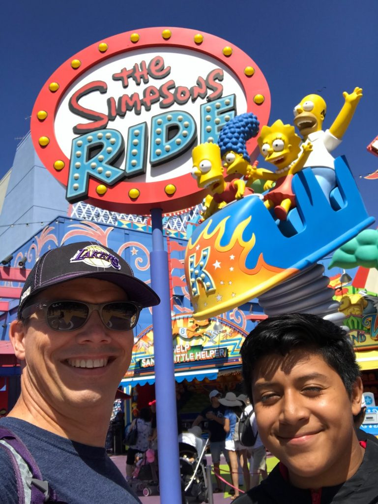 Mentor and Mentee Friendship Bryan and Alrick at Walk With Sally Partner Activity with Universal Studios in Los Angeles