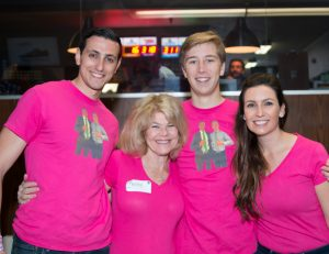 Mentor and Mentee Friendship Brian and Liam together with his mom and breast cancer survivor Betsy