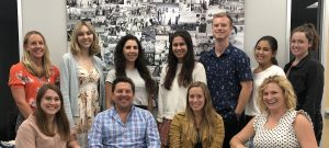 Walk With Sally staff and interns at the El Segundo Los Angeles office in Summer 2019