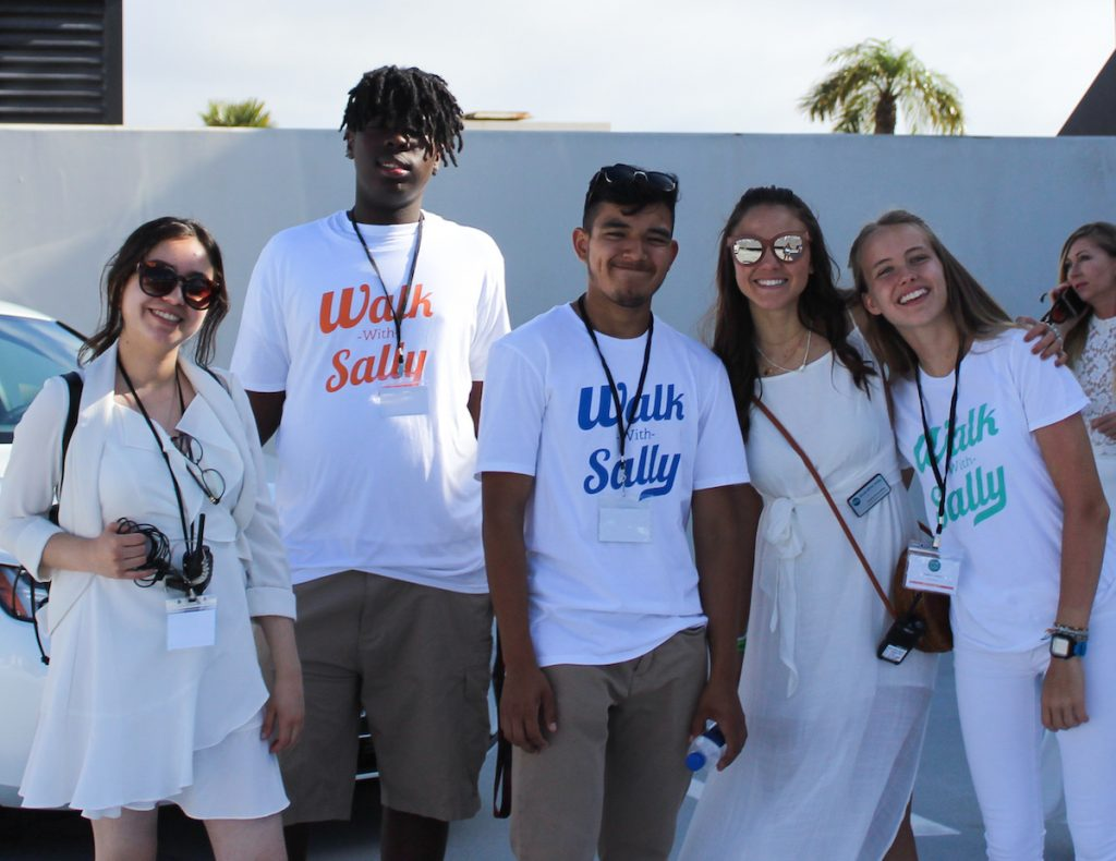 Walk With Sally staff, interns and mentees support White Light White Night fundraiser event in Los Angeles