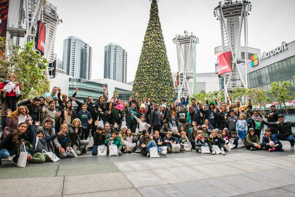 Walk With Sally friendships, mentors, families impacted by cancer join together for a Friendship Activity at L.A. Live in Los Angeles