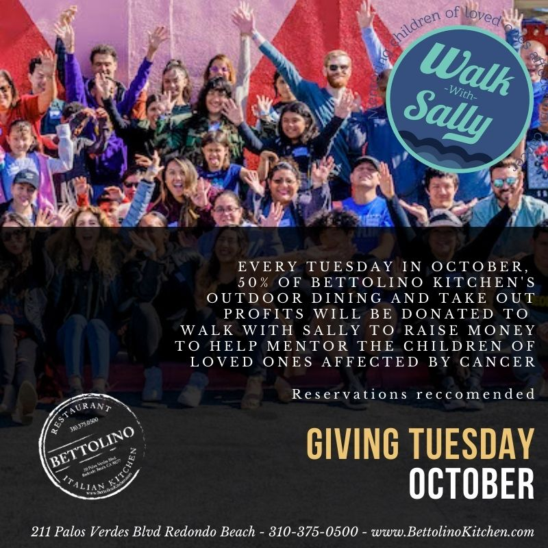 Bettolino Kitchen Giving Tuesday October Breast Cancer Awareness Donation